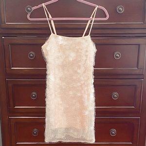 Armani Exchange Large Iridescent Sequin mini dress